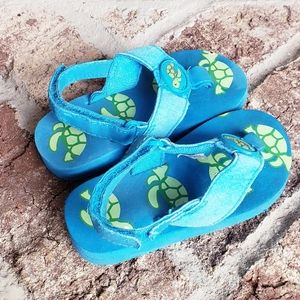 Gymboree Sea Turtle sandals flip flops sz5